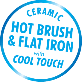 Ceramic Hot Brush & Flat Iron with Cool Touch