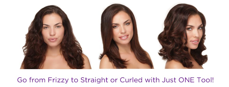 Go from Frizzy to Straight or Curled with just ONE Tool!